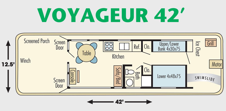 42 Foot Voyageur Houseboat