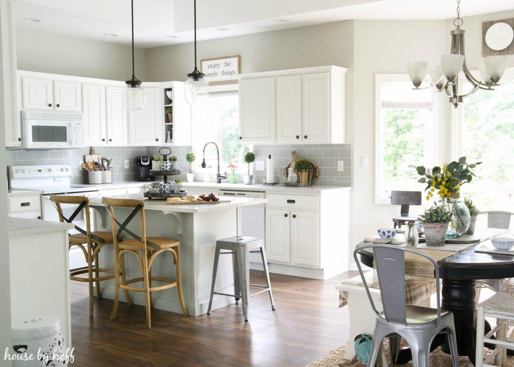 A Modern Farmhouse Kitchen Makeover - House by Hoff on Luxury Farmhouse Kitchen  id=81894