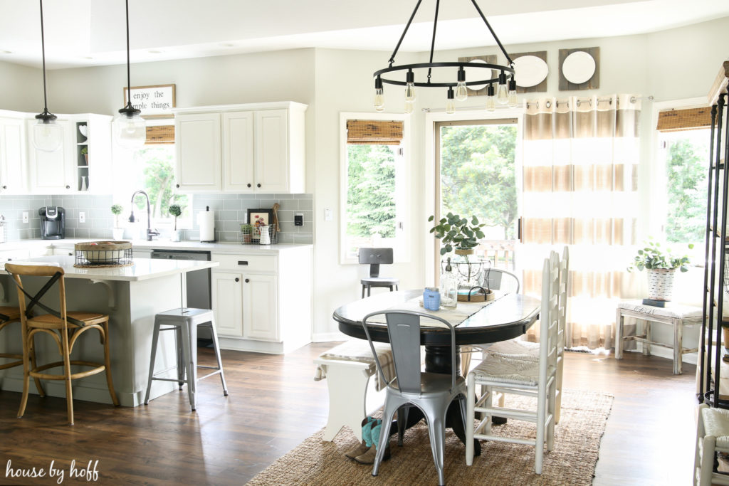 New Blinds in the Kitchen and Dining Room - House by Hoff on Farmhouse:-Cra1Rtrksu= Dining Room Curtains  id=80707