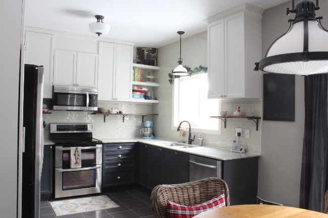 Renovating a new-build house and why it's totally okay | our builder grade kitchen after DIY renovation