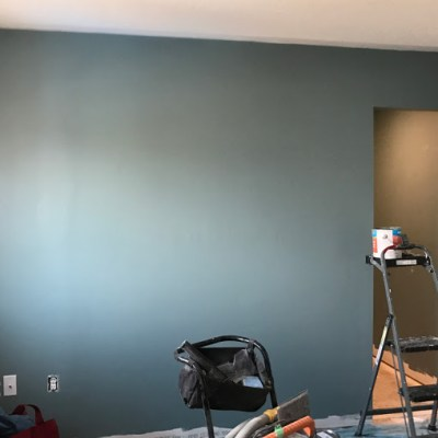 Painted walls but still no floor   Spring One Room Challenge   Week Four
