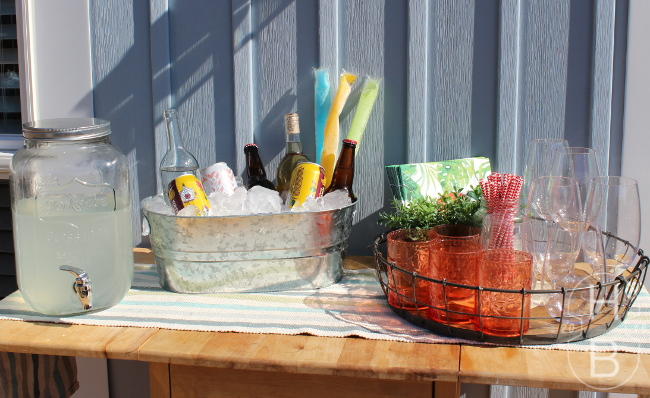 Patio Drink Station | Tips for Outdoor Entertaining | House by the Bay Design