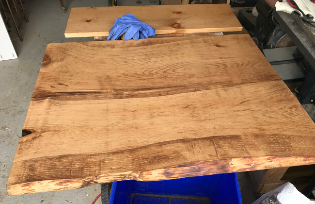DIY live edge countertop   $100 laundry room makeover   House by the Bay Design