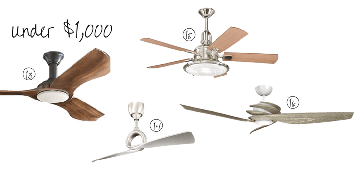 Attractive ceiling fans under $1,000 | House by the Bay Design