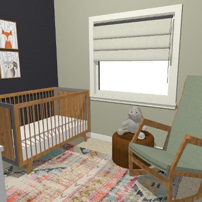 Comfortable Modern Nursery Design and Decorating Plan