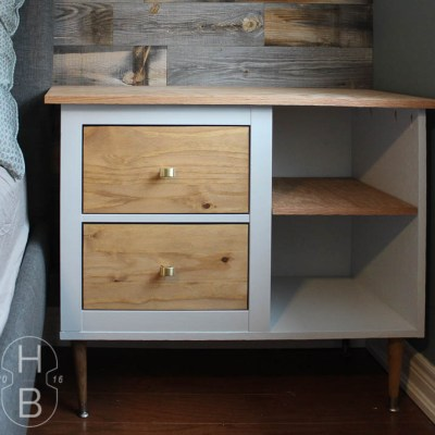 Ikea Hemnes Mid Century Modern Bedside Table Hack With PureBond Plywood