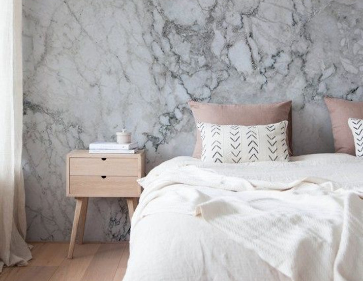 Marble Wallpaper   2018 Home Design and Decor Trends   House by the Bay Design