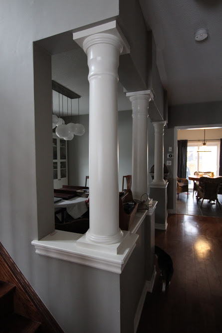 Dining Room Pillars | Kitchen Renovation | House by the Bay Design