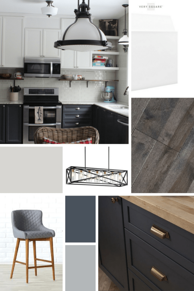 Main Floor Renovation Inspiration Board | One Room Challenge | House by the Bay Design
