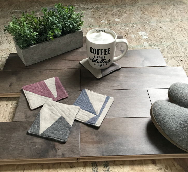 DIY Fabric Scrap Coasters with the Cricut Maker | House by the Bay Design