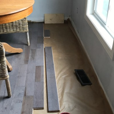 One Room Challenge Week Two: New Flooring and More Unfinished Projects