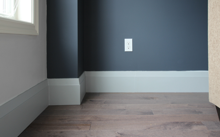 New Very Square Baseboards from Metrie   Main Floor Renovation   House by the Bay Design