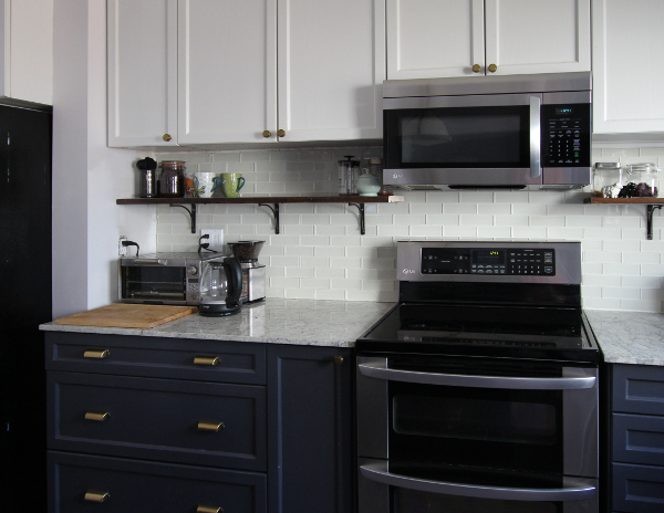 Reused Granite Countertop   Kitchen Makeover Reveal   House by the Bay Design