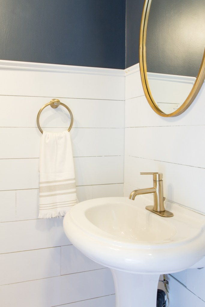 Compact Nautical Powder Room And Mudroom Makeover House By