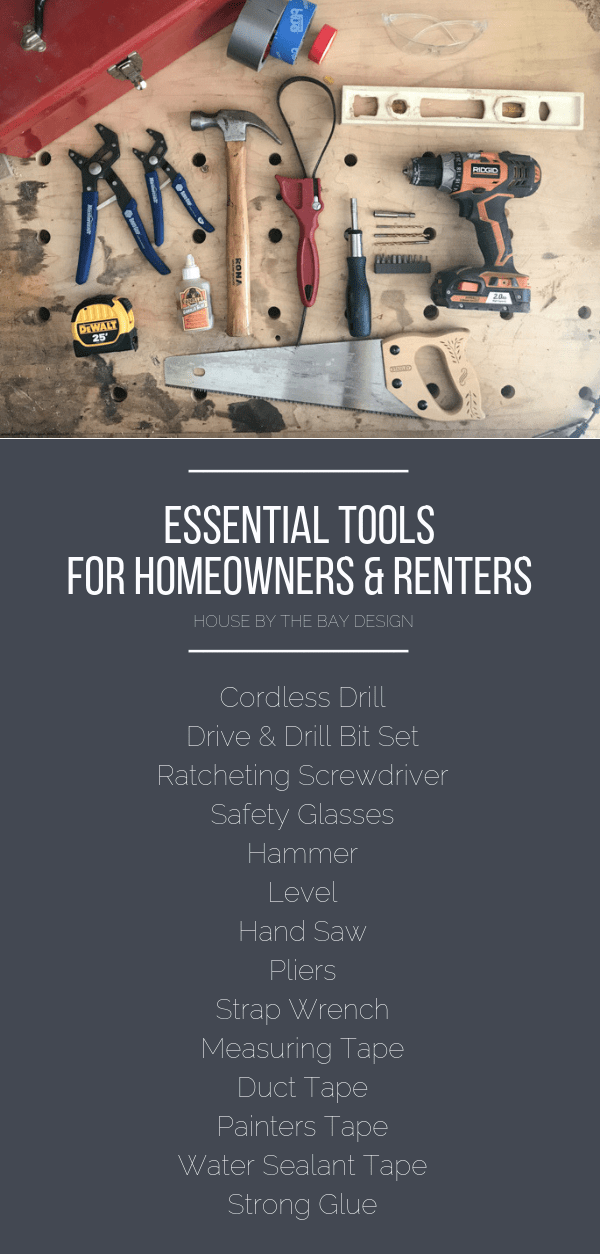 Essential Tools for Homeowners and Renters | House by the Bay Design
