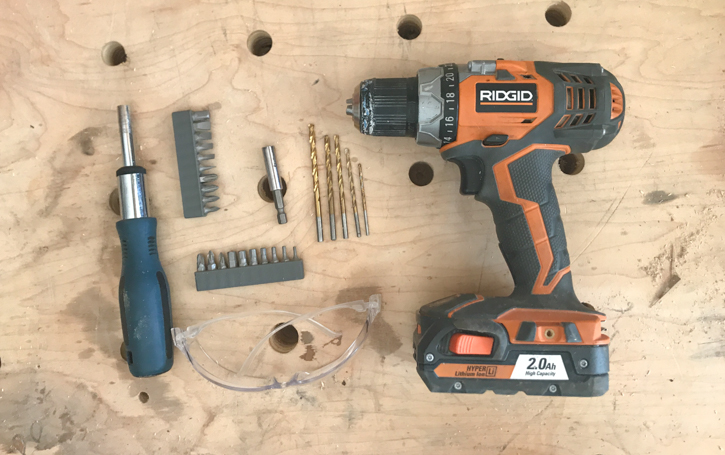 Cordless drill, drill & drive bits and a ratcheting screwdriver | Essential tools for homeowners and renters