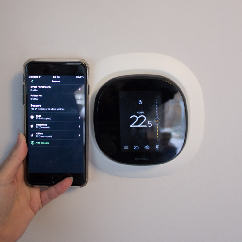 ecobee smart thermostat and mobile app