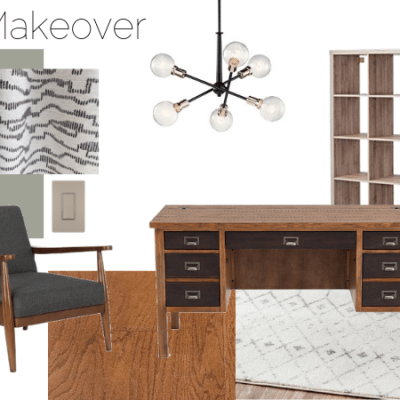Modern Home Office Makeover – Spring One Room Challenge