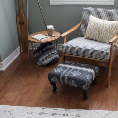 How to Refinish a Vintage Footstool