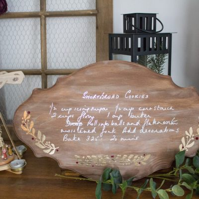 Preserved Family Recipe Wood Sign DIY