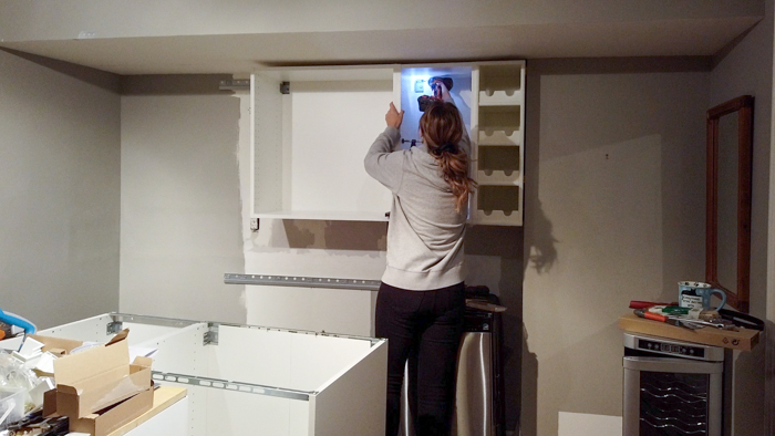 Installing Ikea Kitchen Cabinets And Countertop Basement Kitchenette Update House By The Bay Design