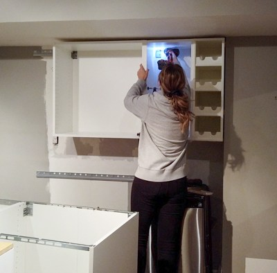 Installing IKEA Kitchen Cabinets and Countertop | Basement Kitchenette Update