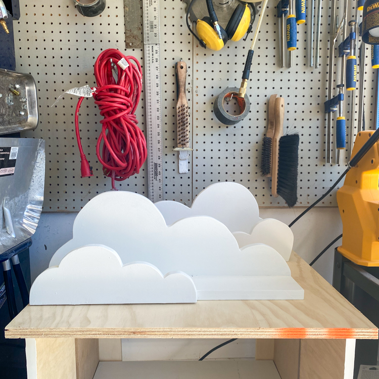 DIY Cloud Shelves