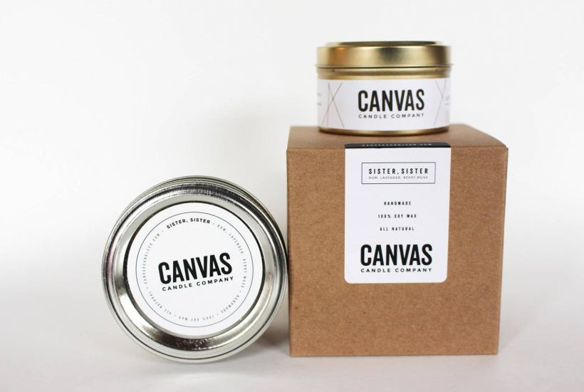 canvas candle