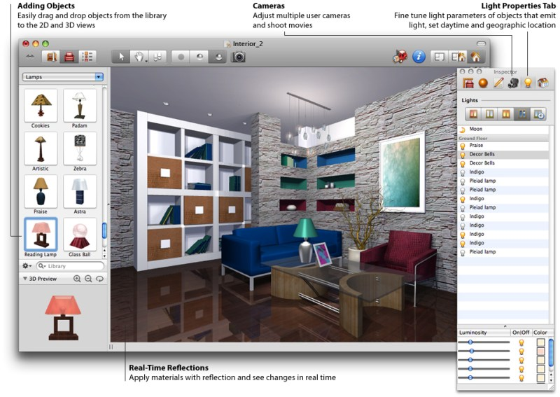 Professional interior design software Professional interior design software