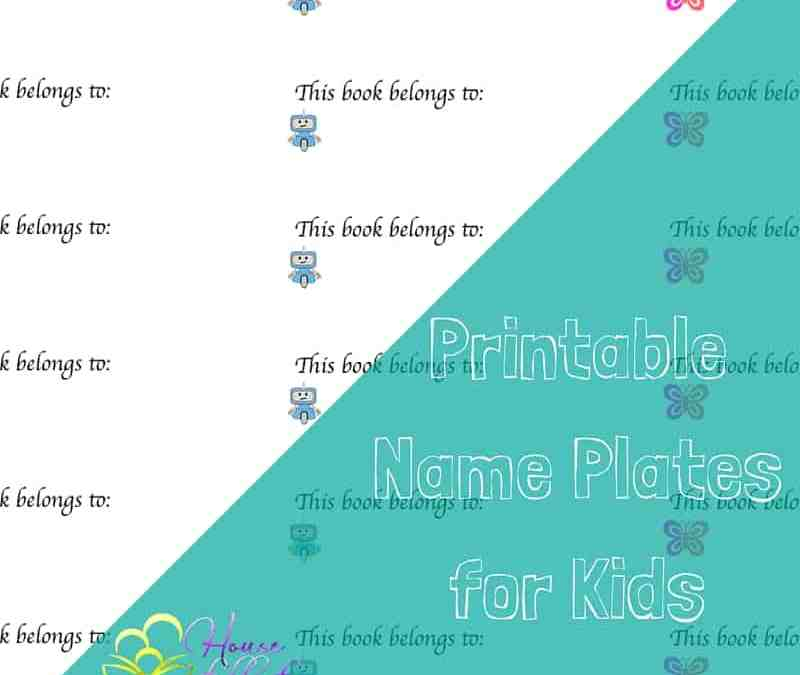 free printable name plates for kids books house full of bookworms