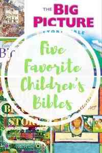 Five Favorite Children's Bibles