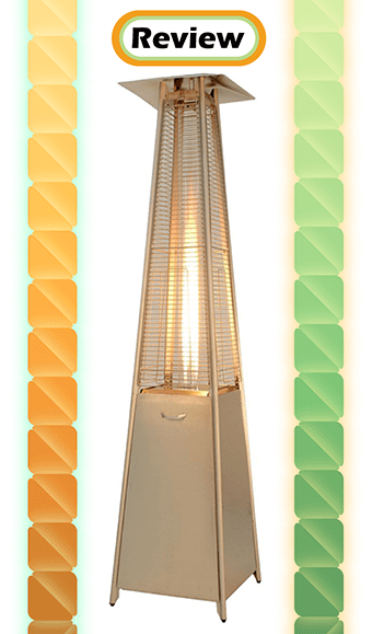 AZ Patio Heaters Commercial Stainless Steel Pyramid Glass Tube Patio Heater Review
