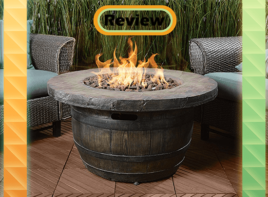 Vineyard Wine Barrel Propane Fire Pit Review