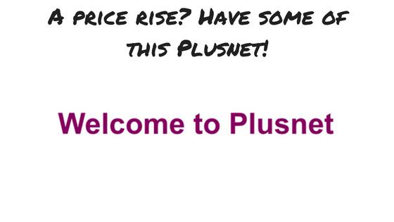 plusnet price rise