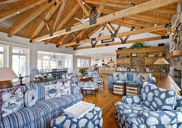 Beach House California Dreamin In Ocean Blue Amp White