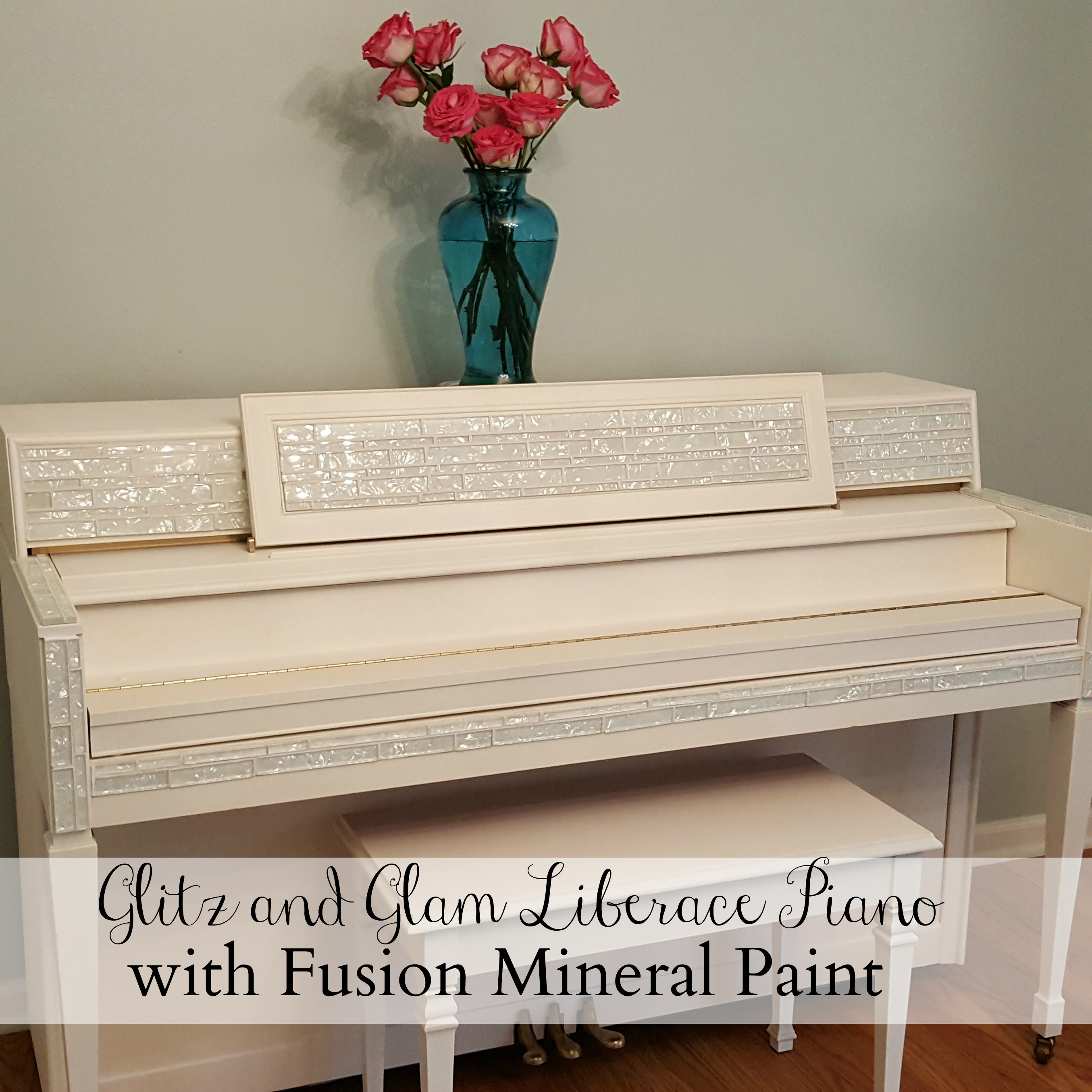 A glitz and glam piano transformation Liberace would envy with Fusion Mineral Paint - Housekaboodle