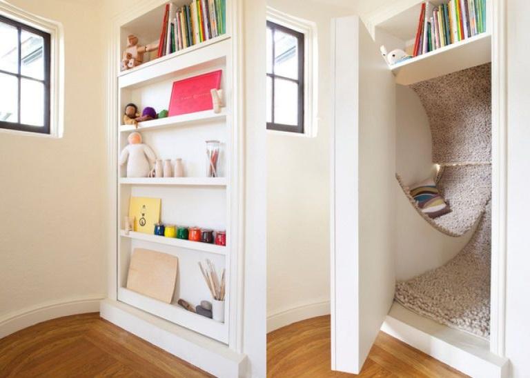 Come nascondere o coprire una porta for Stanza bonus su idee garage