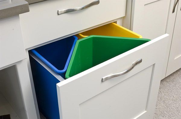 Come organizzare la raccolta differenziata in casa - Bidoni per differenziata casa ...