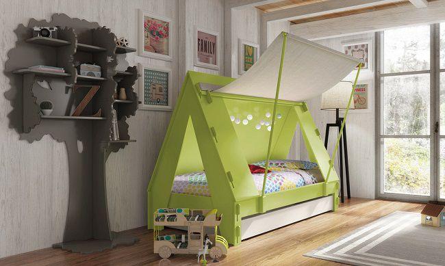 cameretta bambini tenda canadese