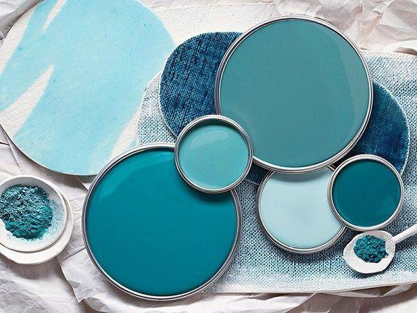 casa in blu sfumature