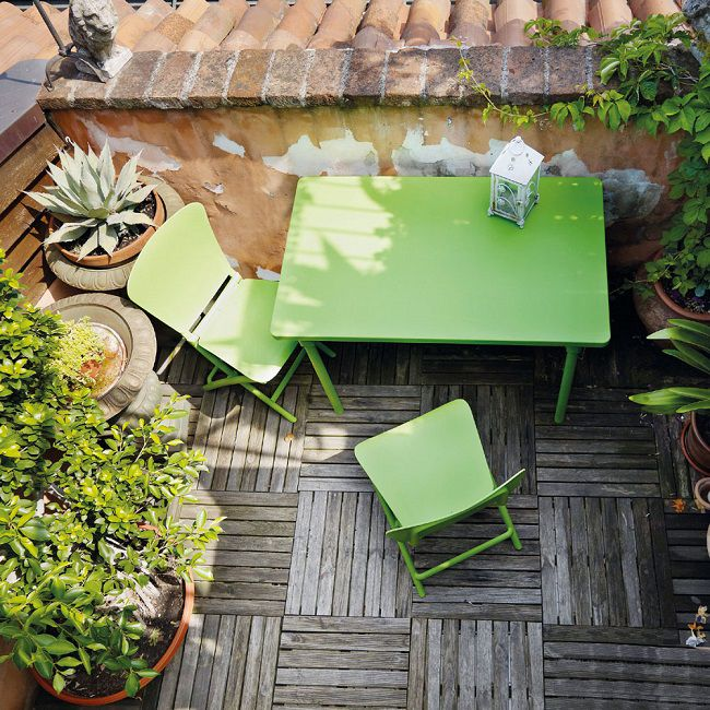 Zic Zac Di Nardi Il Set Da Arredo Per Balcone : I rilassanti salva spazio di nardi