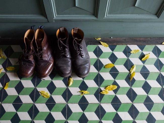 geometrie anni 70 pavimento piastrelle