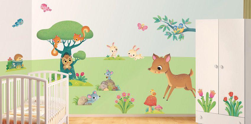 Leostickers decorazioni murali per la cameretta house mag - Decorazioni murali bambini ...