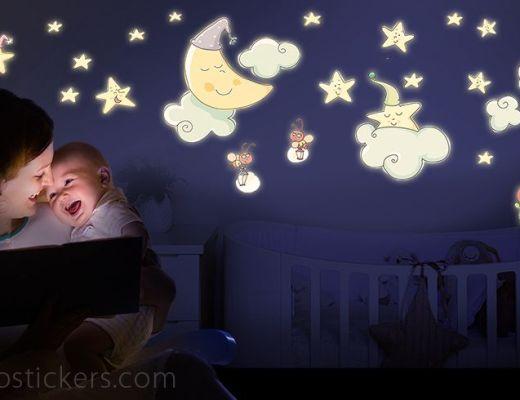 Illuminotti leostickers adesivi murali 1