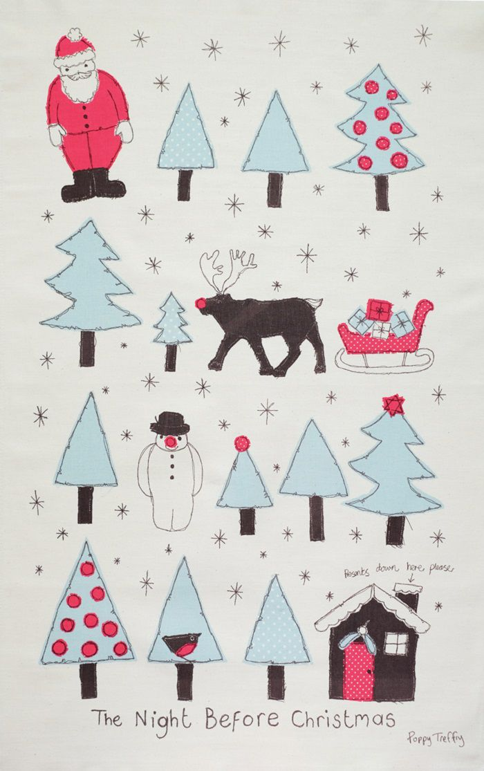 Poppy Treffry Christmas Tea Towel