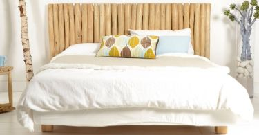 camera da letto legno materasso