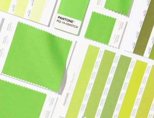 palette greenery pantone campioni