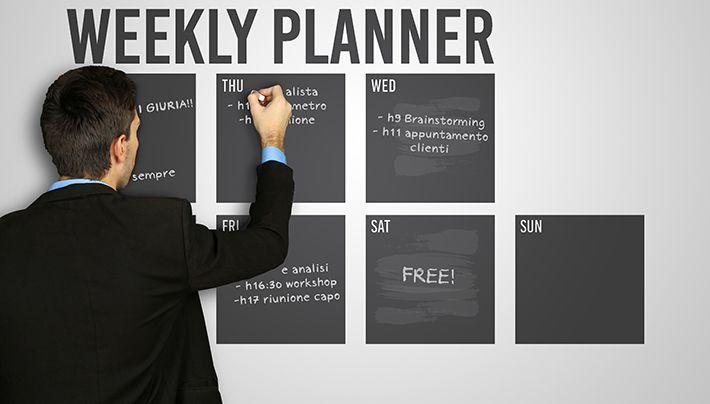 Weekly planner adesivo da parete