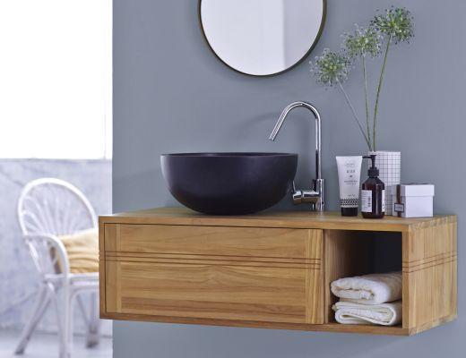 Arredare la stanza da bagno in stile marinaro - Mobili per il bagno in legno ...