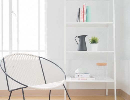 libreria minimal bianco